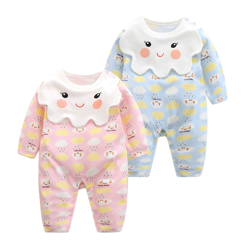 CalaBob 2017 Baby Girl Clothes Infant Romper Long Sleeve Cotton Cartoon Baby Girl Rompers Newborn Jumpsuit Baby Clothing new newborn baby girl rompers pajamas long sleeve cotton romper clothes baby jumpsuit for babies animal infant boy girl clothing