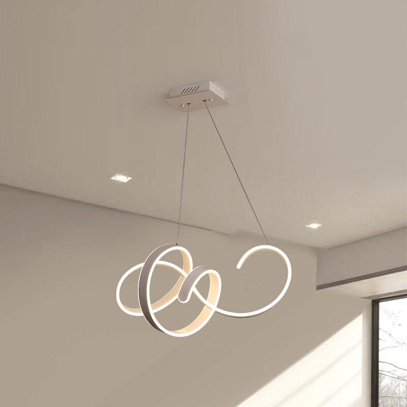 Creative postmodern LED pendant lights for living room dining room aluminum body LED Pendant Lamp fixtures luminaire suspendu