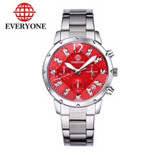 Everyone 370 men watches top brand luxury men six stitches calendar full stell men sports watch