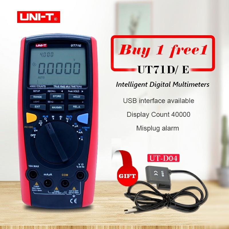 UNI-T UT71A UT71B UT71C UT71D UT71E Numérique MultiMeterTure RMS AC DC compteur Volt Ampère Ohm Capacité Température testeur rétro-éclairage