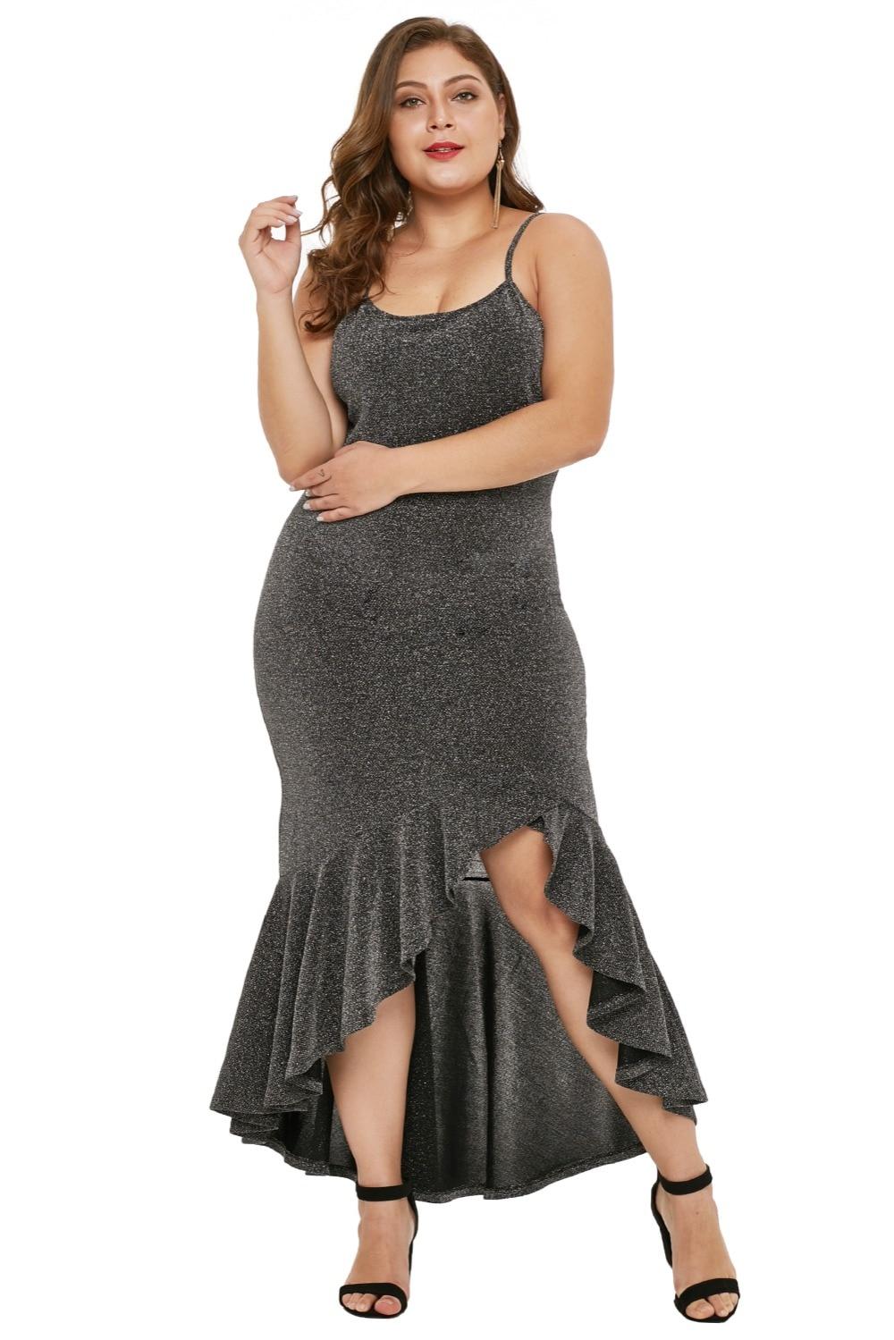 Charcoal-True-Shine-Plus-Size-High-low-Dress-LC610939-13-5