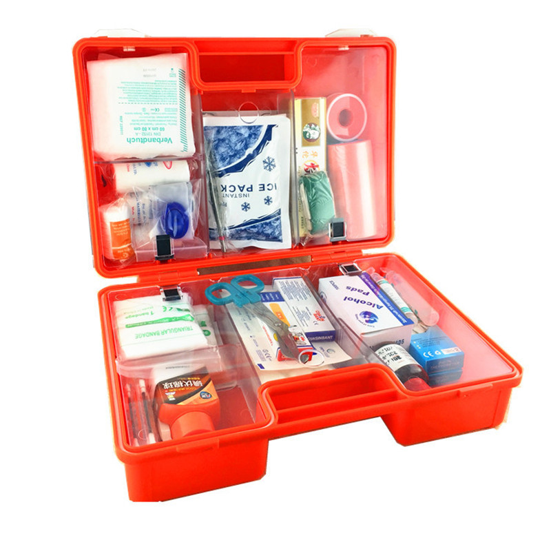 First Aid Kit Medical Storage Case Multi Function Environmental ABS Plastic Travel Medicine Box Hiking Survival Kits 1 set outdoor emergency equipment sos kit first aid box supplies field self help box for camping travel survival gear tool kits