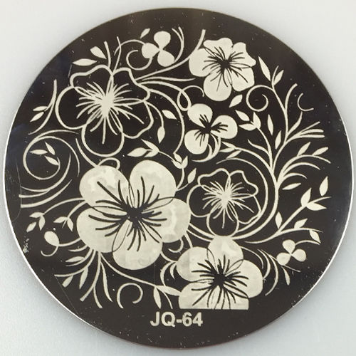 Fashion Designs Nail stamping plate JQ64 1PC On Sale ! Rose Flower ...