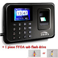 5YA01 + usb отпечатков пальцев удар часы реального времени usb Английский Португальский офис посещаемость рекордер датчик машина читатель