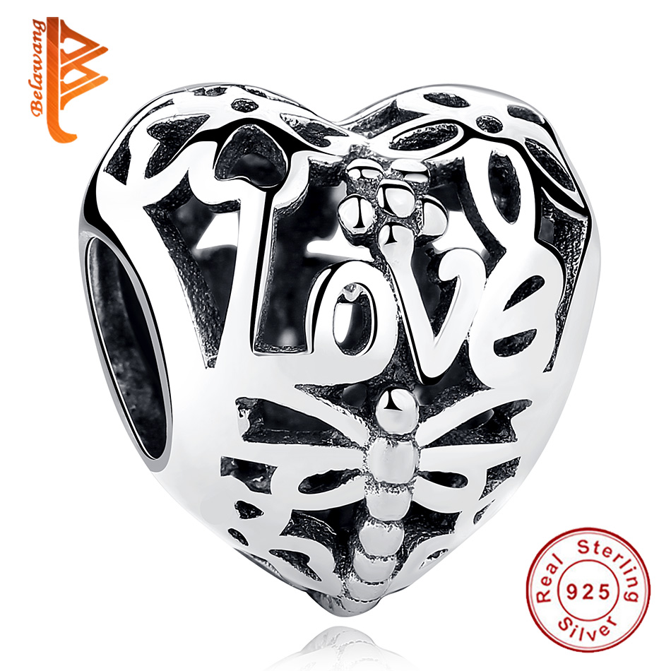 2018 New Authentic 925 Sterling Silver Promise of Spring Love Beads Fit Pandora Charm Bracelet Original Silver Jewelry