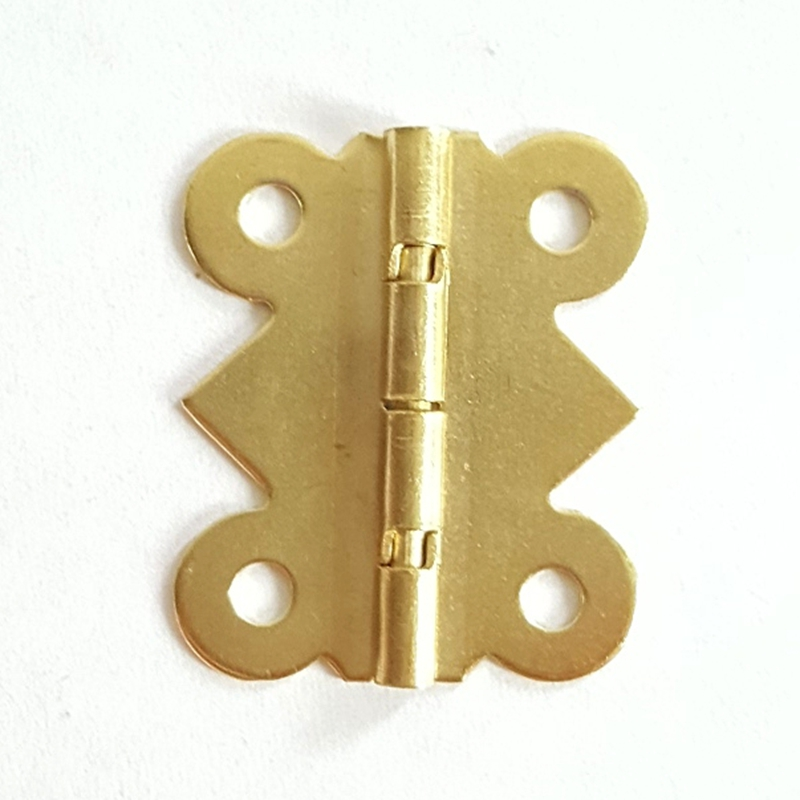 100pcs 20*24mm Brass Color Hinge 90 Degree Accessories Craft Box Parts Wooden Case Butterfly Metal Hinge For Home Furniture Fix 200pcs 18 15mm hinge brass bronze color flat wholesale small hardware for wooden box case cabinet drawer door funiture fix