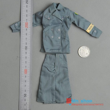 1 6 Scale Female Doll Clothing Accessories Female German Communication Soldier Uniform Skirt for 12 Action