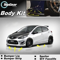 For Mazda 2 For Mazda2 M2 Demio DW DY DE DJ Bumper Lip / Front Spoiler Deflector For Car View Tuning / Body Kit / Strip Skirt