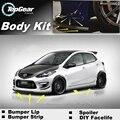 Para Mazda 2 Para Mazda2 M2 Demio DW DE DY DJ Pára Lábio/Spoiler dianteiro Defletor Para a Opinião Do Carro Tuning/Body Kit/Strip saia