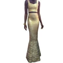 Frauen Lange Verbandkleid, Figurbetontes Kleid Bodenlangen Neueste Cocktail Party Kleid 2286 XS S M L