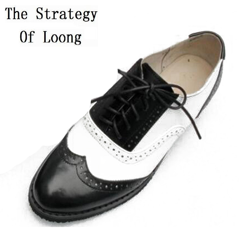 Vintage Genuine leather Oxford Shoes British Style Women Retro Lace Up Flat Casual Shoes Matched Colors Plus Size Lady Shoes men s leather shoes vintage style casual shoes comfortable lace up flat shoes men footwears size 39 44 pa005m