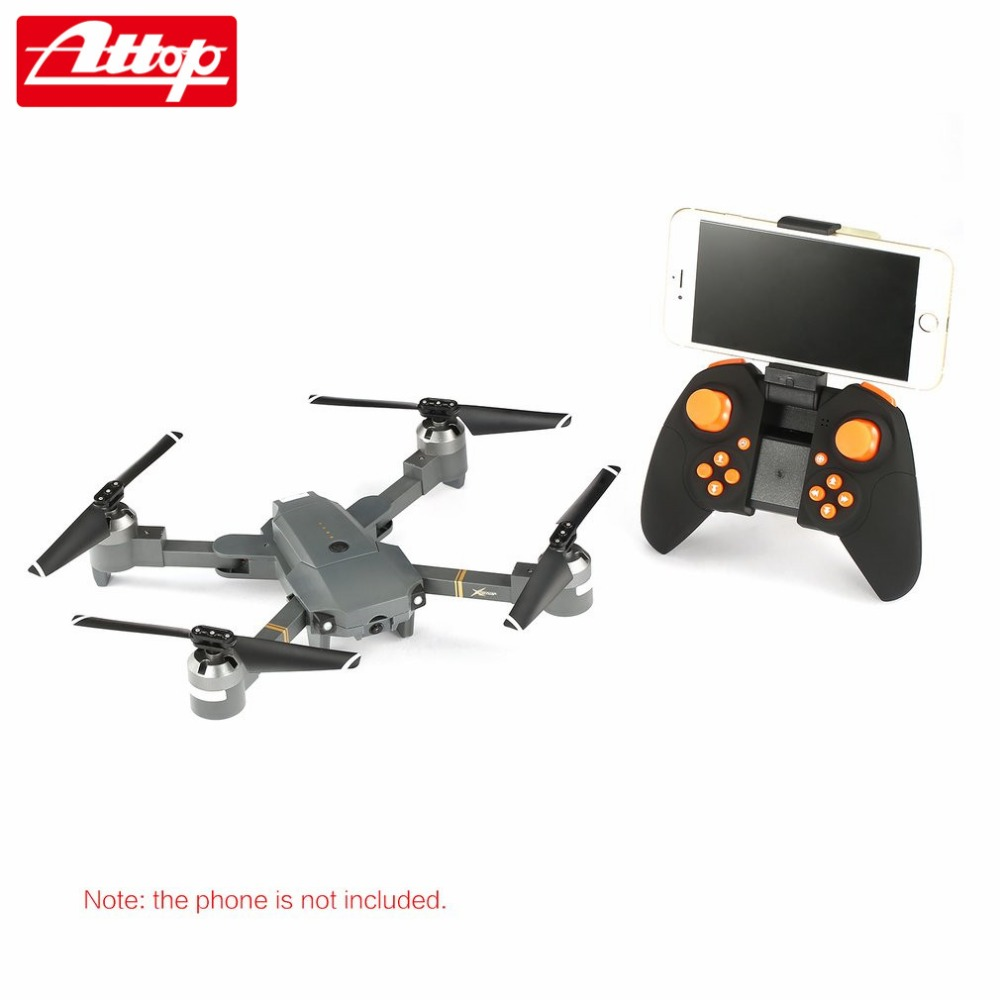 Attop XT-1 WIFI 2.4G FPV Drone Camera 3D Flip Altitude Hold Foldable One-key Take-off/Landing Headless Mode RC Quadcopter hz attop xt 1 wifi 2 4g fpv drone camera 3d flip altitude hold foldable one key take off landing headless mode rc quadcopter