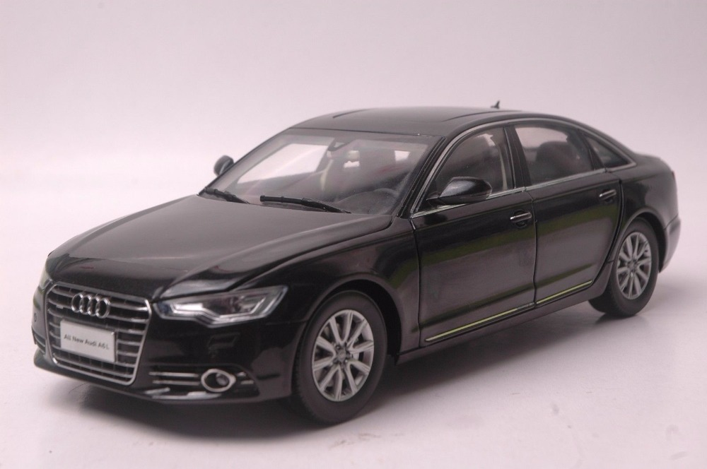 1:18 Diecast Model for Audi A6L 2012 Black Sedan Alloy Toy Car Miniature Collection Gifts A6 1 18 diecast model for buick lacrosse black classic sedan alloy toy car collection gifts