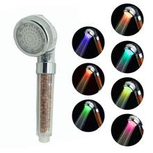7 Colors Anion Shower Handheld Temperature Control Water Home Improvement Saving Uv Shower Spa Big Rain Rfid Blocking