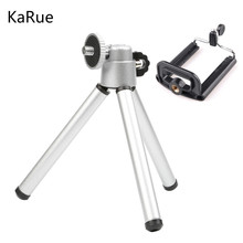 KaRue Portable Mini Tripod Stand For Phone Gopro Xiaoyi 4K SJCAM Digtal Camera Camcorder With Phone Holder