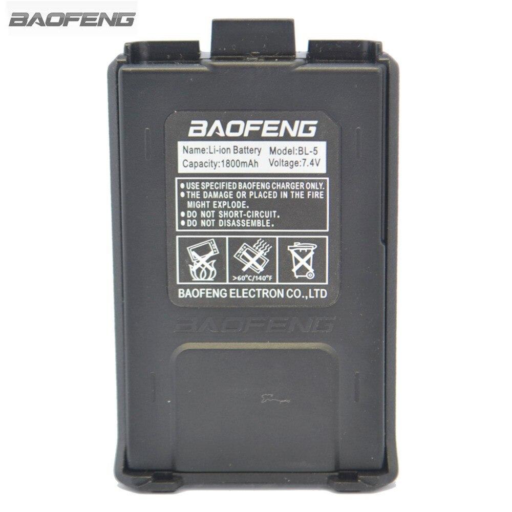bilder für Baofeng herkunft batterie 7,4 v/1800 mah wiederaufladbare schwarz für baofeng uv-5r 5ra 5rb 5rc 5rd 5re zwei-wege radio