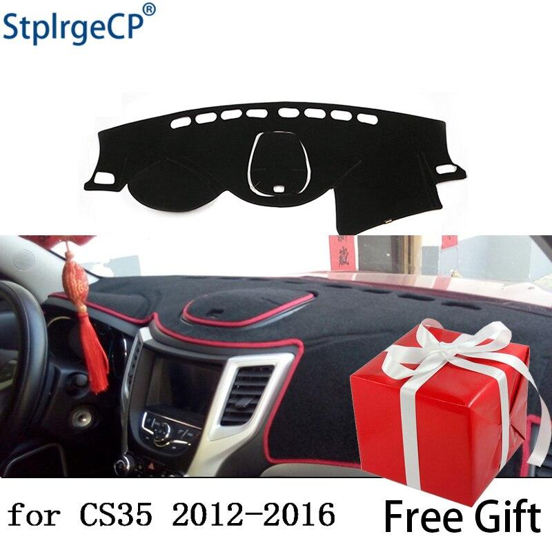 For CHANGAN CS35 2012-2016  Dashboard Mat Protective Pad Shade Cushion Pad Interior Sticker Car Styling Accessories