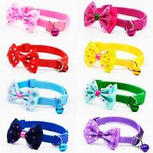 Lindo Mascotas Collares de Perro Collares Para Mascotas Cachorro de Poliéster Ajustable con Bowknot y Bells Collar Collar Para Perros Cat collares de perro