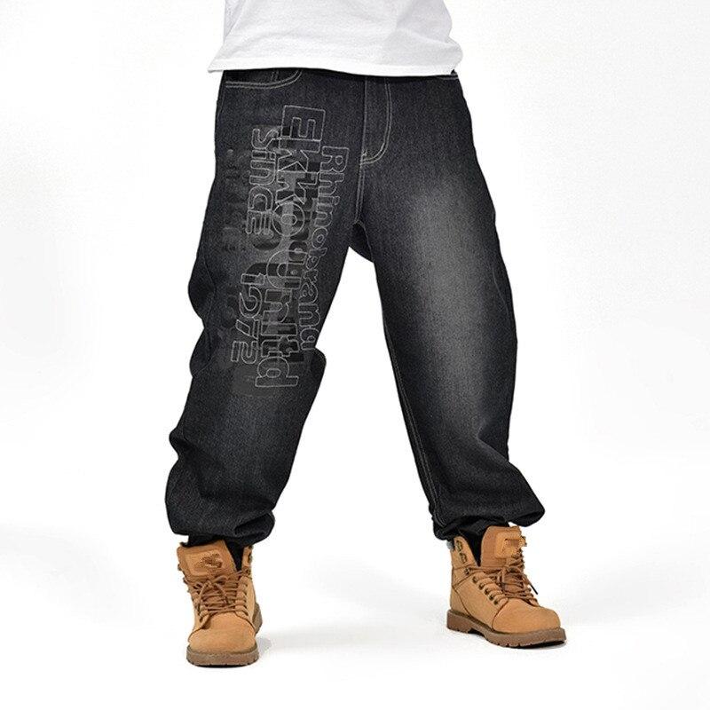 c417e1fe36a Fashion Big size 46 Men Jeans Hiphop Seasons Leisure Loose Men's Hip Hop  Denim Pants New