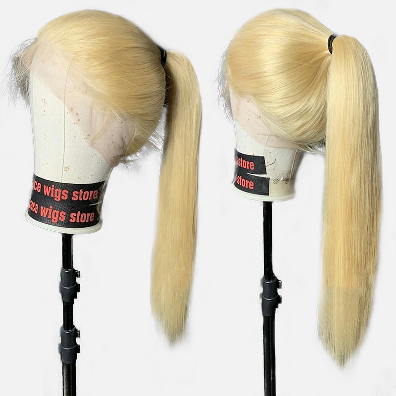 613 Blonde 360 Lace Frontal Wig Pre Plucked With Baby Hair Glueless Full Straight Lace Front