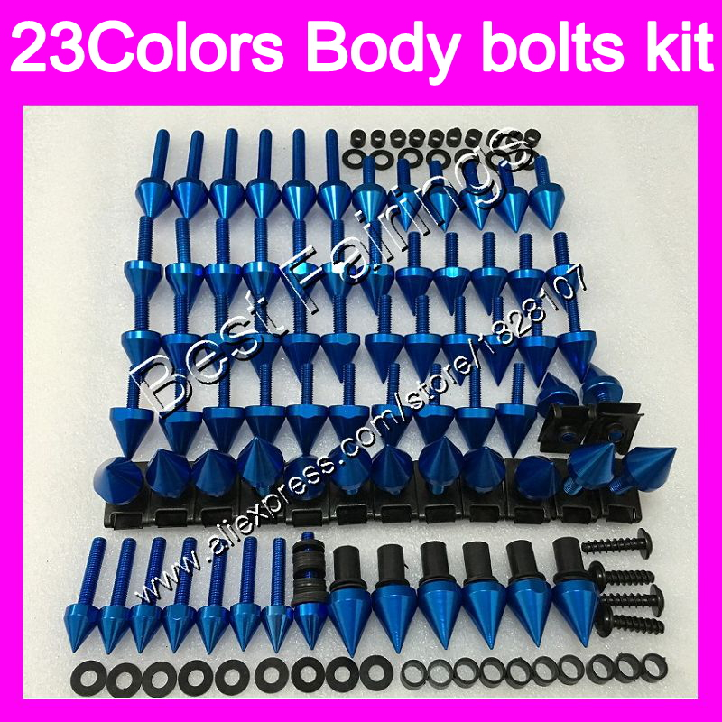 <font><b>Fairing</b></font> bolts full screw kit For SUZUKI GSXR600 GSXR750 06 07 <font><b>GSXR</b></font> <font><b>600</b></font> 750 K6 GSX R600 R750 <font><b>2006</b></font> 2007 Complete Body screws Nuts image