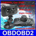 Professional Car DVR 2.7'' TFT Full HD 4Digital Zoom Glass Lens Dash Cam 720x1080P GS8000L Car Recorder Video Free Shipping