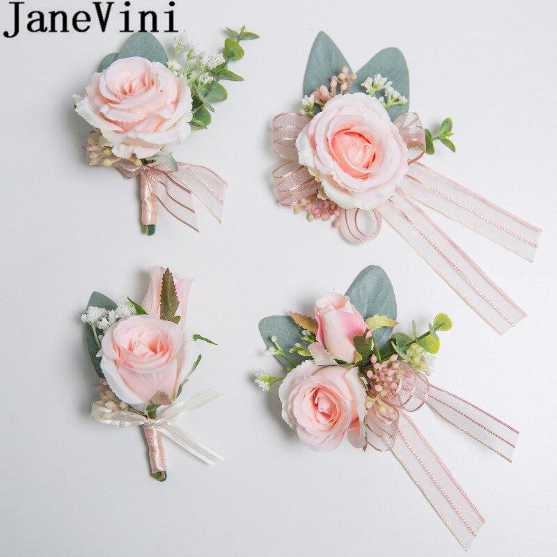 1 boutonnière bouquet fleur rose n°2 Accessoire mariage homme.