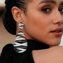 GODKI Famous Brand Luxury Twist Belt Dangle Earrings Trendy Zircon Wedding Engagement Party Dubai Earrings for women 2019
