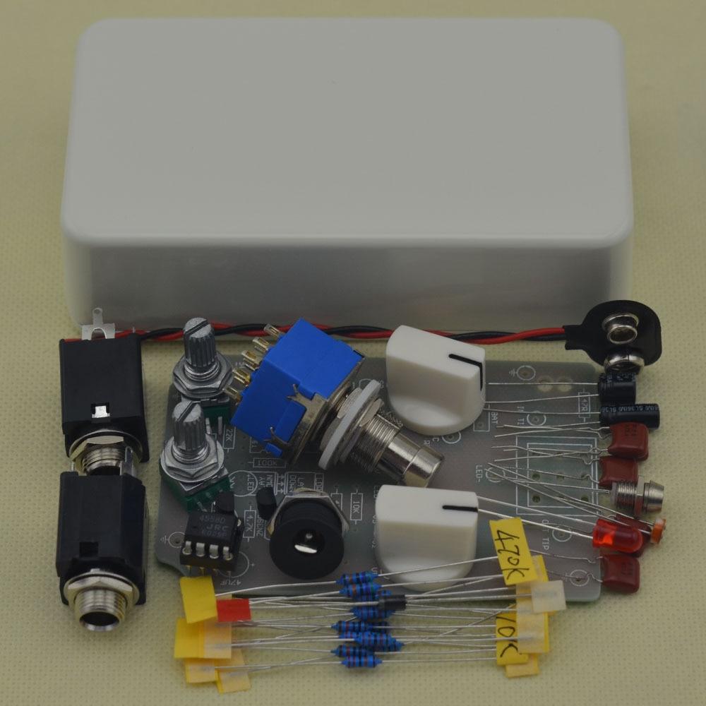 DIY Compressor effect pedal guitar stomp pedals Kit W 2pcs 1590g diecast hamond enclosure pedal stomp case for diy guitar effect peda project