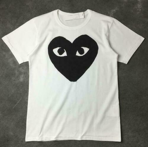 New Comme Des Garcon PLAY Giant Black Heart Cotton   T     Shirt   CDG Play Tee Streetwear Men   T     Shirt   Harajuku Hip Hop Funny   T     Shirts