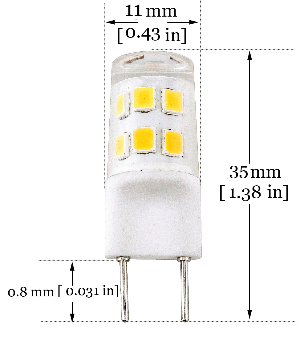 Ltd Lusta LED Co Bonlux G8 Bi-pin LED Bulb 2 Watts 120V Daylight 6000K 20W Equivalent T4 G8 Base Halogen LED Replacement Bulb for Under-Cabinet Accent Puck Light Desk Lamp Lighting Pack-5