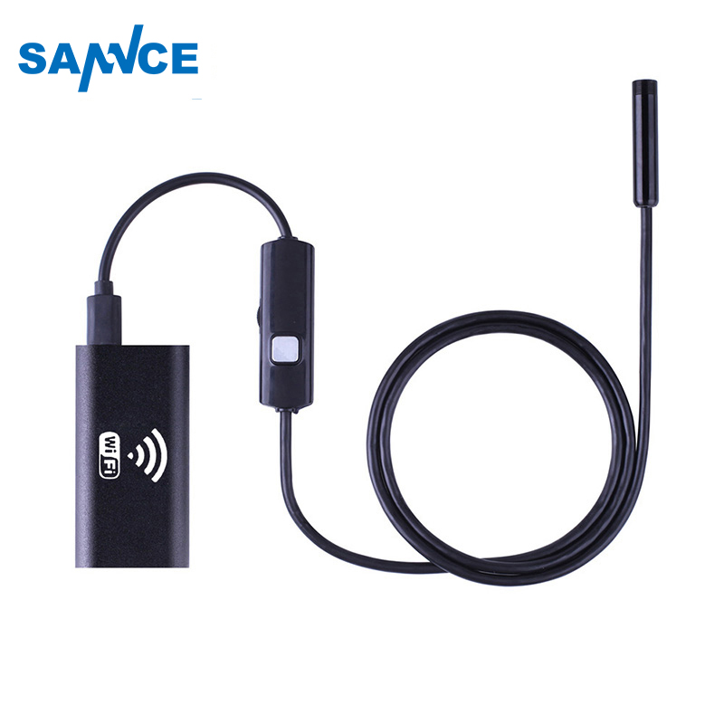 1M 2M 3.5M 5M IOS Android Wifi Endoscope 8mm Lens 6 LED Waterproof Borescope Inspection Camera 2.0MP Snake Tube Pipe Mini Camera industrial endoscope wifi with android and ios 720p 6 led 8mm waterproof inspection borescope tube camera with 2m cable no usb