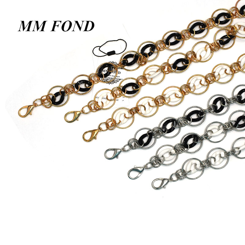 MM FOND New fashion women handbag chain strap super chic with acrylic circle part lady bag belts ring style girls bag strap A496