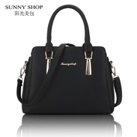 SUNNY SHOP 2017 New Spring Casual Women Messenger Bags Designer Handbags High Quality PU Leather Women