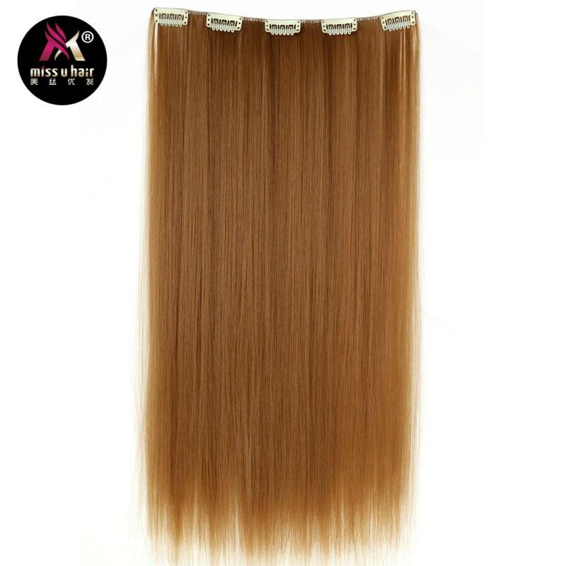 Miss U Hair 20 50cm 50g Synthetic Long Straight Clip In Hair