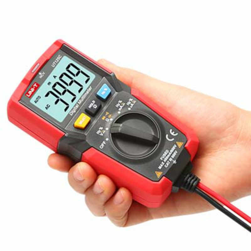 UNI-T UT125C 미니 포켓 디지털 멀티 미터 온도 테스터 저항 커패시터 주파수 다이오드 NCV 테스트 저전압 디스플레이