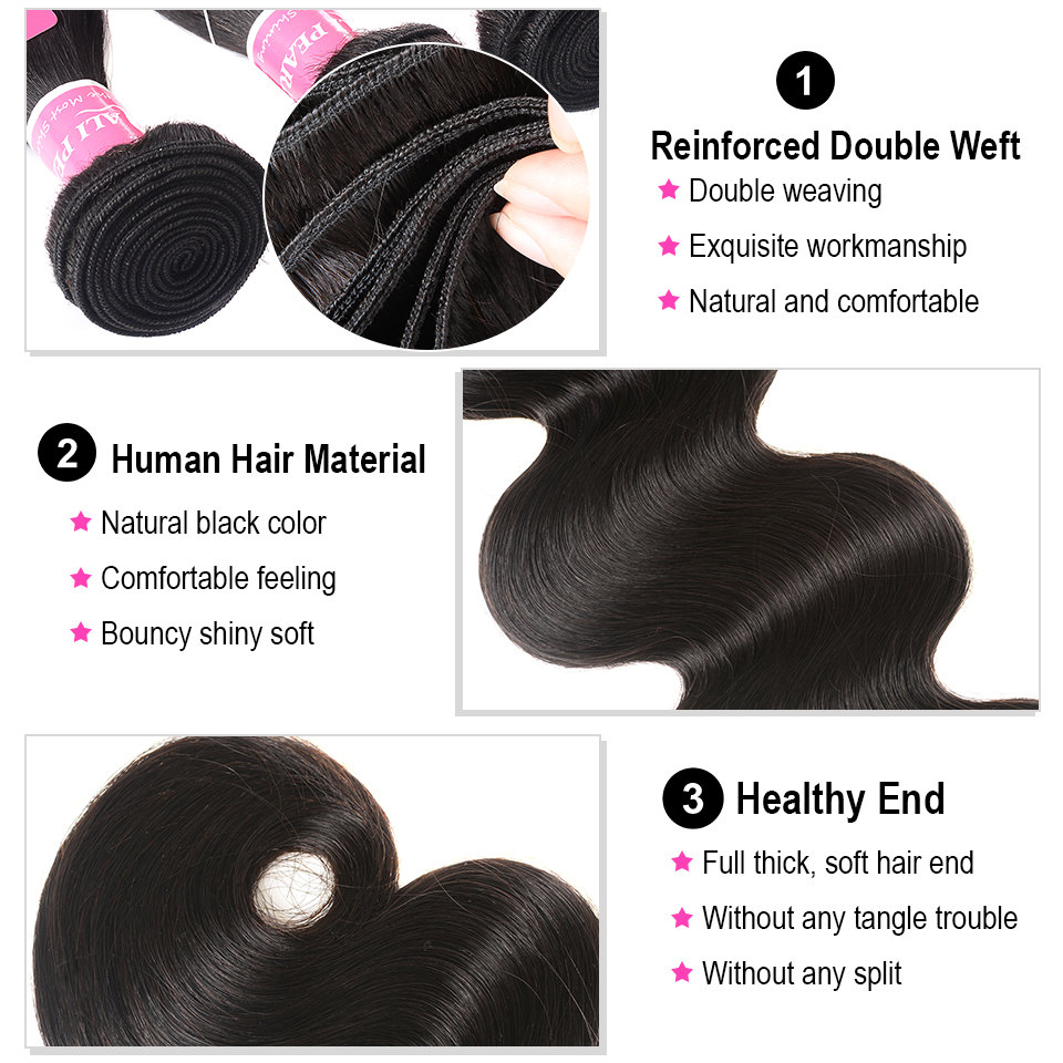 Body Wave Human Hair Bundles With Closure 6x6 Free Part Pre Plucked Brazilian Bundles With Closure Body Wave Human Hair Bundles With Closure 6x6 Free Part Pre Plucked Brazilian Bundles With Closure Remy Hair Extension AliPearl