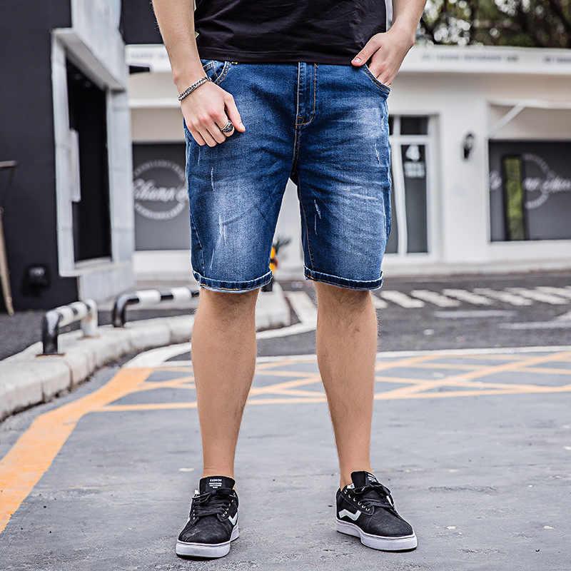 2018 новые летние Повседневное Джинсовые шорты мужской высокое качество прямые