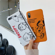 Kawaii retro cute Snoopys dog anime phone case For coque iphone 7 puls case silicon for iphone 8 6 plus for iphone cover X XR XS(China)