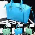 Sky Blue Large PU Leather Women's Handbag Brands Elegant Ladies Messenger Bags Sacthel Purse Crossbody Bags Tote Big Bag