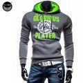 2017 Hoodies Men Sudaderas Hombre Hip Hop Mens Brand Pure Hedging  Hoodie Sweatshirt   Suit Slim Fit Men Hoody XXL