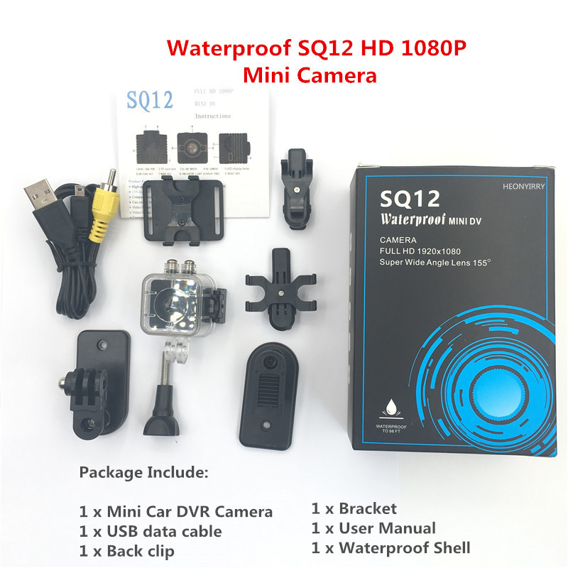 все цены на Original SQ12 SQ11 HD mini camera 1080P Wide Angle Waterproof MINI Camcorder DVR Mini video camera Sport Camcorders