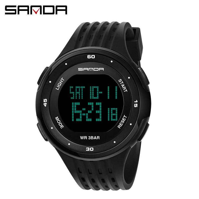 SANDA 338 Fashion Sport Watch Women Electronic LED Digital Watch Waterproof Ladies Wrist watches montre femme relogio feminino in Women 39 s Watches from Watches