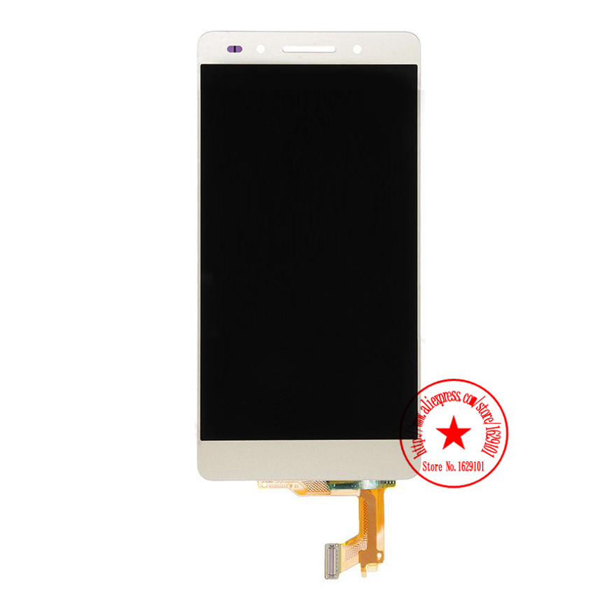 ФОТО 100% Tested Working New LCD Screen Display + Touch Panel Digitizer Assembly For Huawei Honor 7 Cell Phone Repair Parts Gold