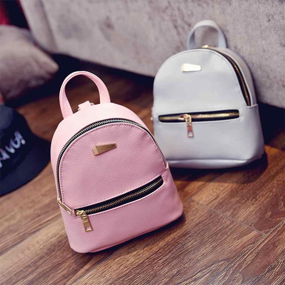 816715bef8 NEW Fashion Women Girls Leather Backpacks Mini Travel Rucksack Cute School  Bag