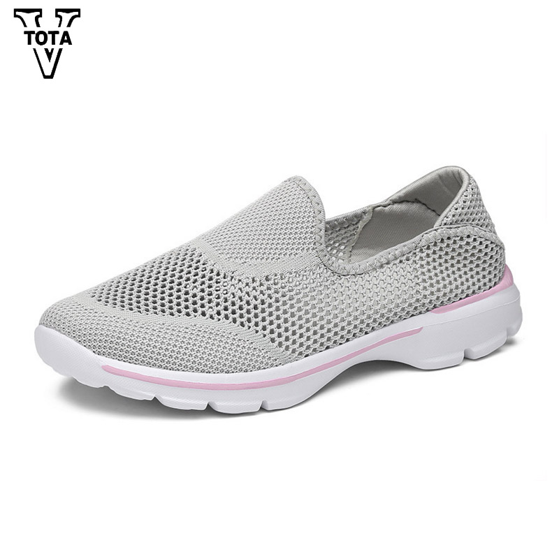 VTOTA Air Mesh Summer Women Shoes Walking Flats Designers Moccasins Shoes Woman Slip On Fashion Casual Shoes Breathable JXXY fashion women casual shoes breathable air mesh flats shoe comfortable casual basic shoes for women 2017 new arrival 1yd103