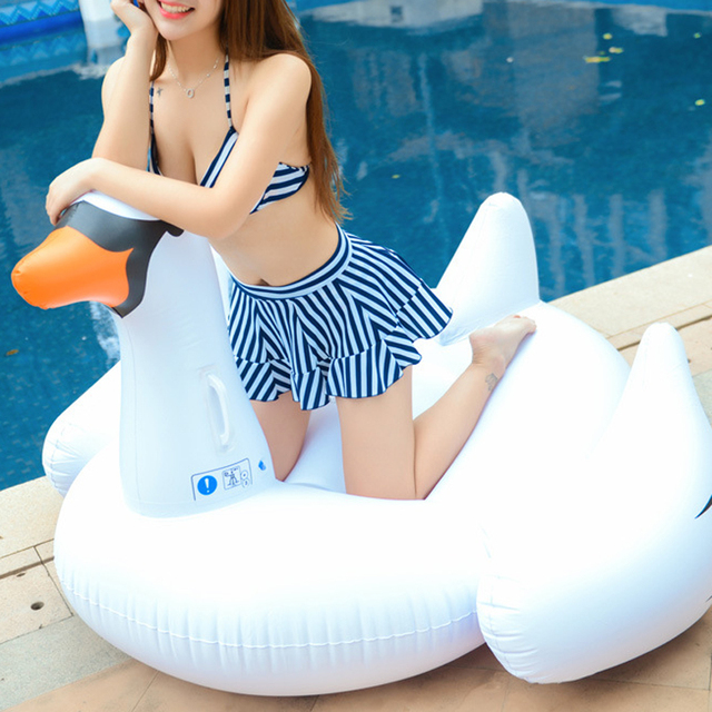 Small Size Inflatable 60 Inch 1.5M Giant Swan Ride On Pool Toy Float  Inflatable