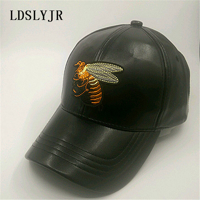 2ede543f LDSLYJR Leather Queen Bee Embroidery Adjustable Baseball Cap Travel Hats  for Men and Women 751-in Baseball Caps from Apparel Accessories on  Aliexpress.com ...