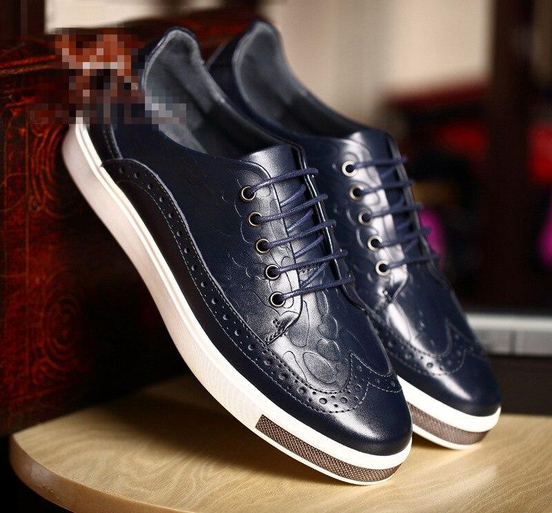 2016 deri patlama modelleri düşük yükseklik erkekler rahat oyma ayakkabı düz moda ayakkabı ücretsiz kargo