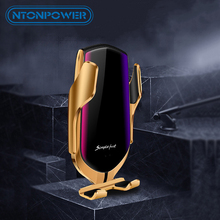 NTONPOWER Qi Car Wireless Charger For iPhone XS Max X 8 10W Fast Charging Mount Holder Samsung Huawei Xiaomi